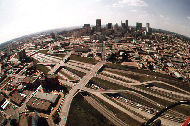 Expressways of Dallas, May 1972. (Photo by Bob Smith/NARA via The Atlantic)
