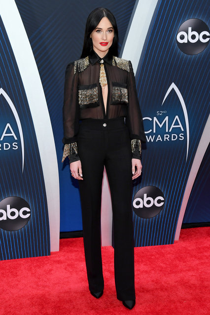 Recording artist Kacey Musgraves attends the 52nd annual CMA Awards at the Bridgestone Arena on November 14, 2018 in Nashville, Tennessee. (Photo by Jason Kempin/Getty Images)