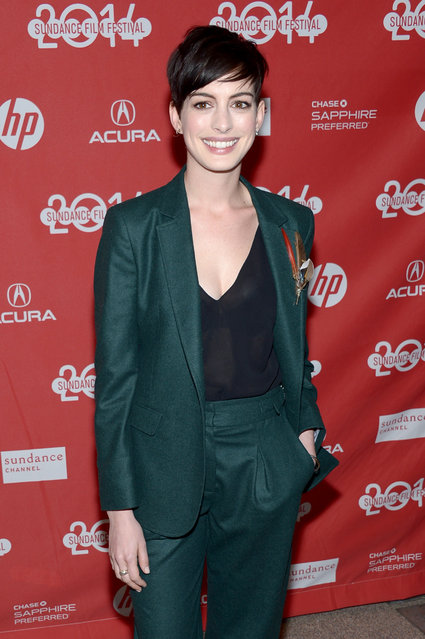 "Actress Anne Hathaway attends the premiere of ""Song One"" at the Eccles Center Theatre during the 2014 Sundance Film Festival on January 20, 2014 in Park City, Utah. (Photo by Michael Loccisano/Getty Images for Sundance Film Festival)"