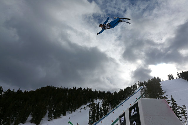 Allison Lee competes during qualifying for the Womens Aerials at the FIS Freestyle Ski World Cup Aerial Competition at Deer Valley on January 10, 2014 in Park City, Utah. (Photo by Mike Ehrmann/Getty Images)