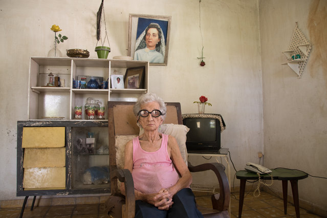 "Portraiture category, open shortlist. ""Present and past"" shows 85-year-old Carmen Sajeras, born in Cuba from a family of Spanish immigrants. (Photo and caption by Anisleidy Martínez Fonseca/2017 Sony World Photography Awards)"