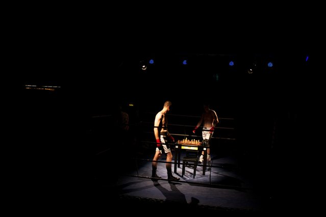 The format of chessboxing is pretty simple: a round of chess followed by a round of boxing. That repeats until an opponent wins either by checkmate or knockout. (Photo by Sol Neelman)