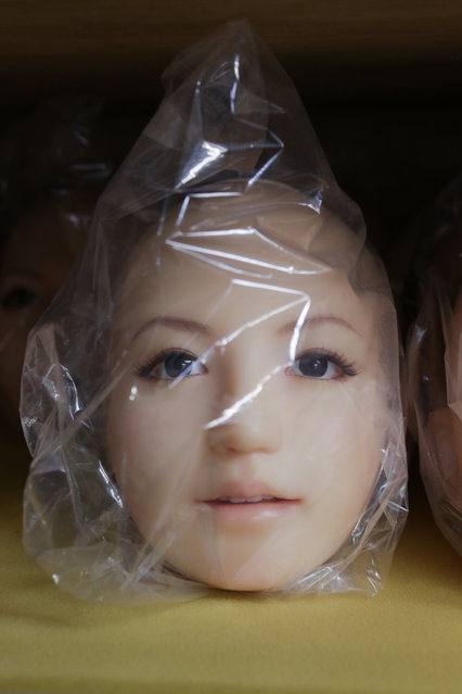 "The head of a love doll named ""Saori"" is seen on March 9, 2017 in Tokyo, Japan. (Photo by Taro Karibe/Getty Images)"