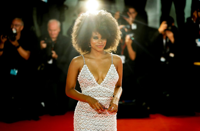 "Zazie Beetz walks the red carpet ahead of the ""Seberg"" screening during the 76th Venice Film Festival at Sala Grande on August 30, 2019 in Venice, Italy. (Photo by Yara Nardi/Reuters)"