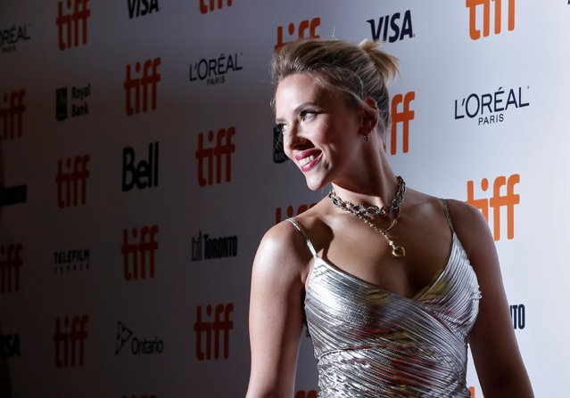 """Scarlett Johansson attends the """"Jojo Rabbit"""" premiere during the 2019 Toronto International Film Festival at Princess of Wales Theatre on September 08, 2019 in Toronto, Canada. (Photo by Mario Anzuoni/Reuters)"""