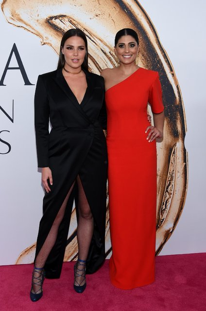 Candice Huffine, left, and Rachel Roy arrive at the CFDA Fashion Awards at the Hammerstein Ballroom on Monday, June 6, 2016, in New York. (Photo by Evan Agostini/Invision/AP Photo)
