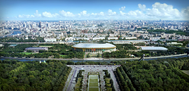In this handout artists impression provided by the Russia 2018 Organising Commitee, the Luzhniki Stadium in Moscow is shown as proposed and presented as part of the Russia 2018 World Cup bid, on September 29, 2011 in Russia. (Illustration by Russia 2018 via Getty Images)