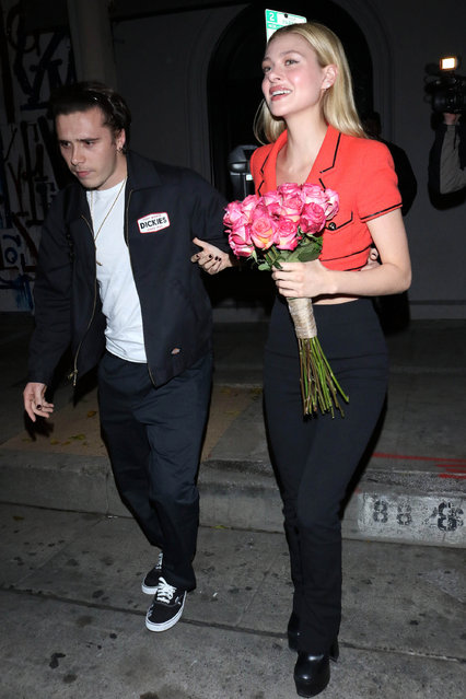 Brooklyn Beckham and Nicola Peltz are seen on January 8, 2020 in Los Angeles, California. (Photo by OGUT/Star Max/GC Images)