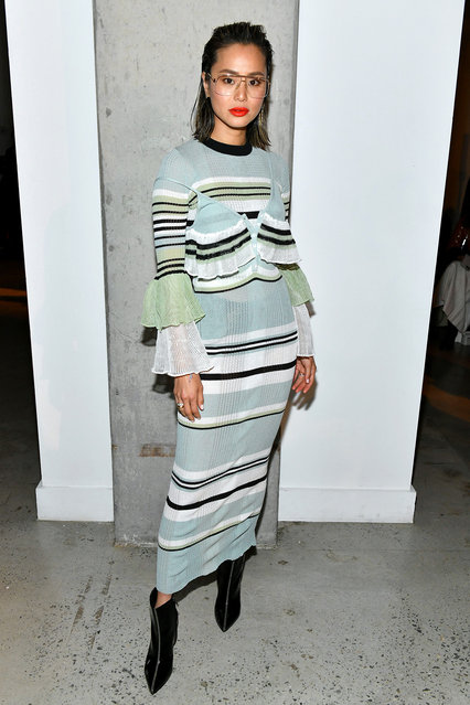 Jamie Chung attends the Self-Portrait Fall Winter 2020 fashion show on February 08, 2020 in New York City. (Photo by Craig Barritt/Getty Images for Self-Portrait)