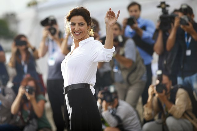 Italian actress Luisa Ranieri poses a day before the 71st Venice Film Festival in Venice August 26, 2014. Ranieri will be hosting the opening and closing ceremonies of the film festival. (Photo by Tony Gentile/Reuters)