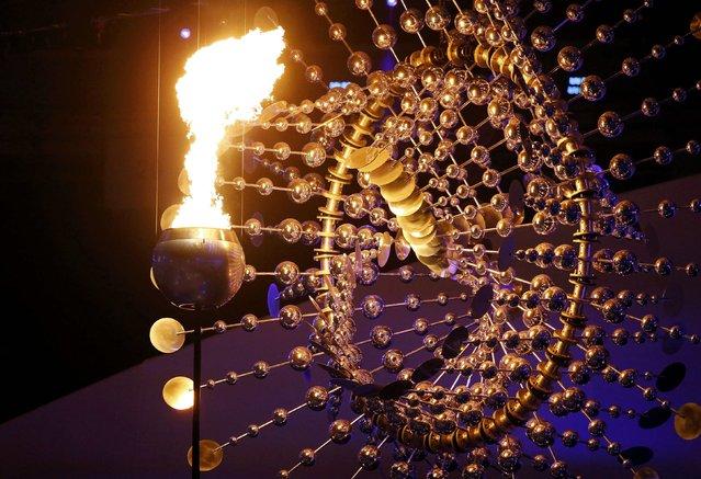 2016 Rio Olympics, Opening ceremony, Maracana, Rio de Janeiro, Brazil on August 5, 2016. The Olympic cauldron is lit at the opening ceremony. (Photo by Ivan Alvarado/Reuters)