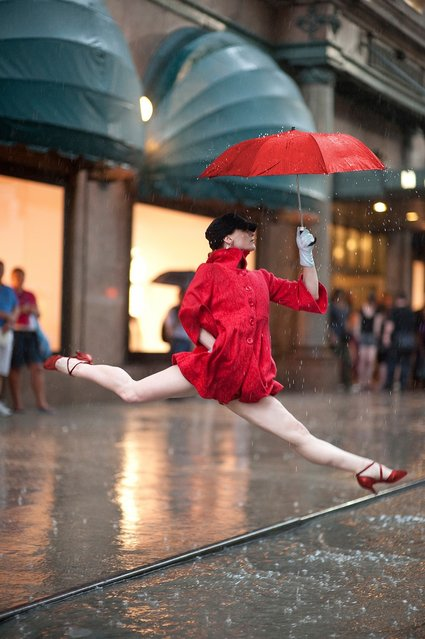 """Dancers Among Us"": Macys, NYC – Annmaria Mazzini. (Photo by Jordan Matter)"