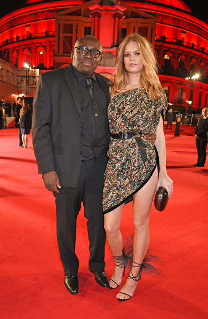 Vogue editor Edward Enninful and German model Anna Ewers attend The Fashion Awards 2017 in partnership with Swarovski at Royal Albert Hall on December 4, 2017 in London, England. (Photo by David M. Benett/Getty Images)