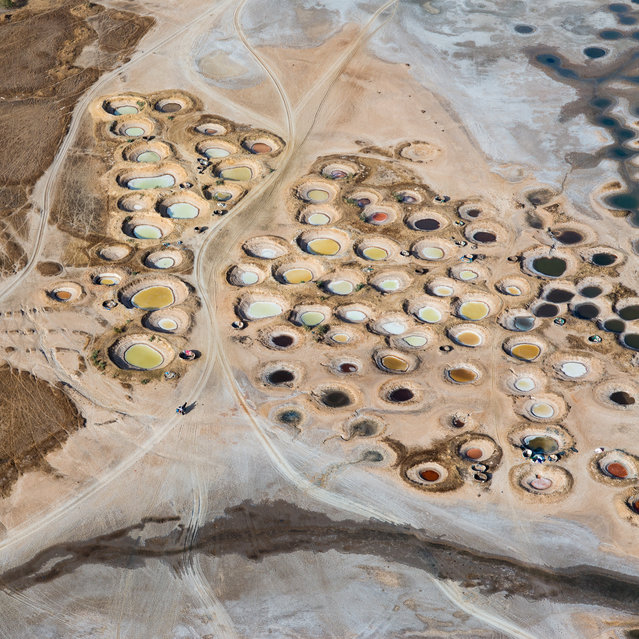 """Salt mines"". Sky view on salt mines in the Sine Saloum region. Photo location: Senegal. (Photo and caption by Emmanuelle Andrianjafy/National Geographic Photo Contest)"