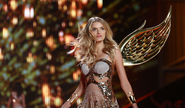 Lily Donaldson walks the runway at the annual Victoria's Secret fashion show at Earls Court on December 2, 2014 in London, England. (Photo by Tim P. Whitby/Getty Images)