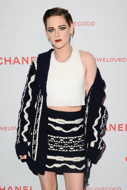 Kristen Stewart, wearing Chanel, attends a Chanel Party to Celebrate the Chanel Beauty House and @WELOVECOCO at Chanel Beauty House on February 28, 2018 in Los Angeles, California. (Photo by Sara De Boer/Startraksphoto.com)