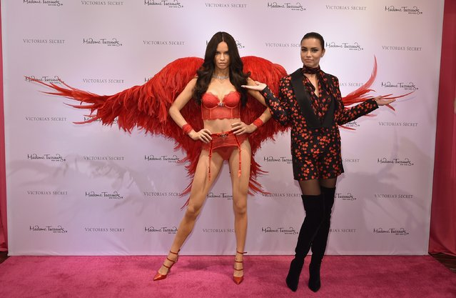 Victoria's Secret Angel Adriana Lima Unveils her Madame Tussauds Wax Figure on November 30, 2015 in New York City. (Photo by Mike Coppola/Getty Images for Victoria's Secret)