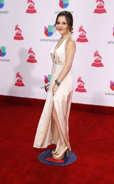 Actress Natalia Ramirez arrives at the 17th Annual Latin Grammy Awards in Las Vegas, Nevada, U.S., November 17, 2016. (Photo by Steve Marcus/Reuters)