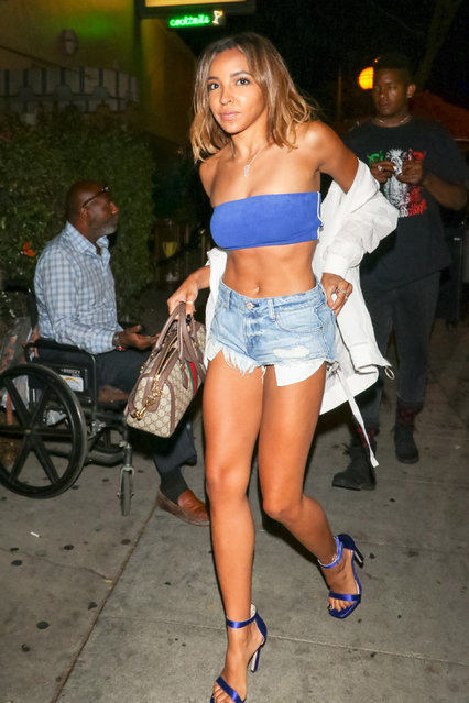 Tinashe is seen on July 23, 2018 in Los Angeles, California. (Photo by gotpap/Bauer-Griffin/GC Images)