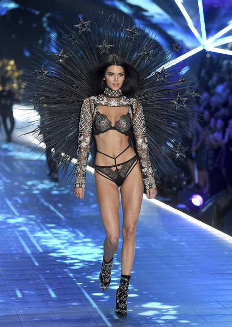 Kendall Jenner walks the runway during the 2018 Victoria's Secret Fashion Show at Pier 94 on Thursday, November 8, 2018, in New York. (Photo by Evan Agostini/Invision/AP Photo)