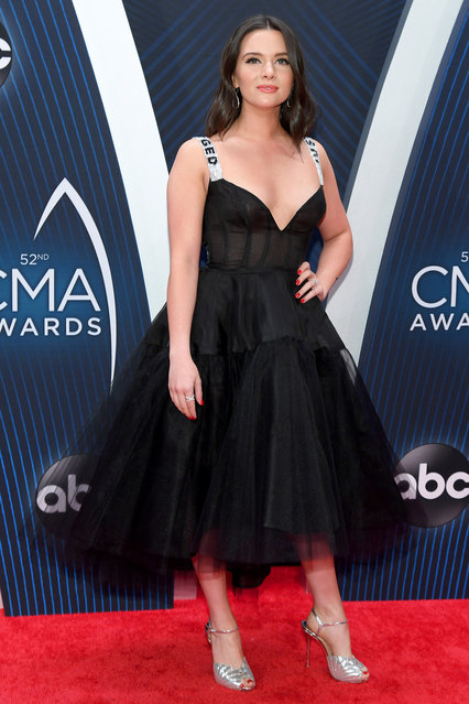 Katie Stevens attends the 52nd annual CMA Awards at the Bridgestone Arena on November 14, 2018 in Nashville, Tennessee. (Photo by Jason Kempin/Getty Images)