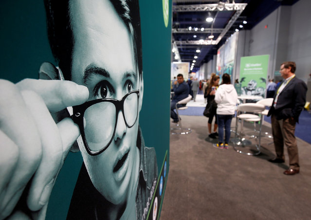 The ChatSim booth is shown during the 2017 CES in Las Vegas, Nevada January 6, 2017. (Photo by Steve Marcus/Reuters)