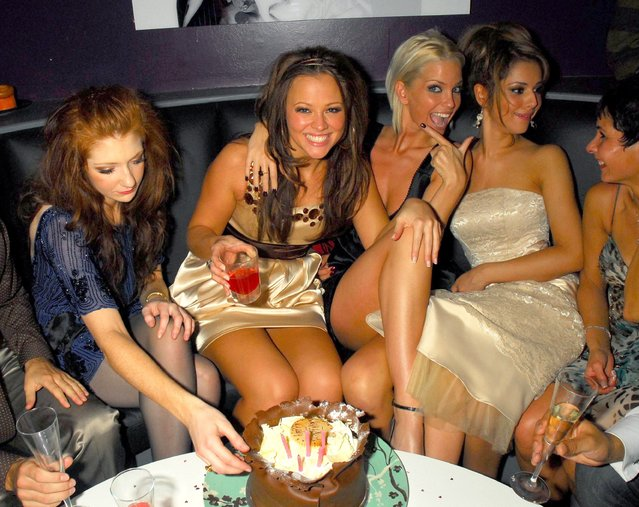 Girls Aloud: Nicola Roberts, Kimberley Walsh, Sarah Harding and Cheryl Cole at Kimberley Walsh's birthday party hosted by Damian Darkko at Mint Nightclub in London, Britain on November 25, 2006. The Girls Aloud star Sarah Harding has died at the age of 39, her mother has said in a post on Instagram. Issue date: Sunday September 5, 2021. (Photo by Rex Features/Shutterstock)