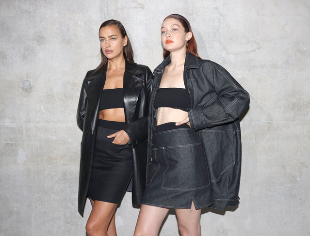 Irina Shayk and Gigi Hadid pose in the backstage of the Max Mara fashion show during the Milan Fashion Week – Spring / Summer 2022 on September 23, 2021 in Milan, Italy. (Photo by Vittorio Zunino Celotto/Getty Images)