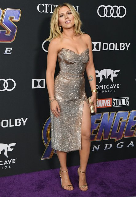 Scarlett Johansson attends the World Premiere Of Walt Disney Studios Motion Pictures 'Avengers: Endgame' at Los Angeles Convention Center on April 22, 2019 in Los Angeles, California. (Photo by Jon Kopaloff/Getty Images)