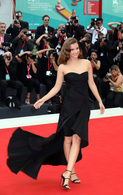Barbara Palvin walks the red carpet ahead of the opening ceremony during the 76th Venice Film Festival at Sala Casino on August 28, 2019 in Venice, Italy. (Photo by Elisabetta A. Villa/WireImage)