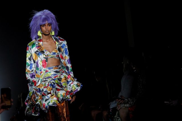 A model presents creations from the Jeremy Scott Spring/Summer 2020 collection during New York Fashion Week in New York, U.S., September 6, 2019. (Photo by Brendan McDermid/Reuters)