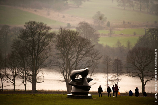 Henry Moore's perminant work  at Yorkshire Sculpture park