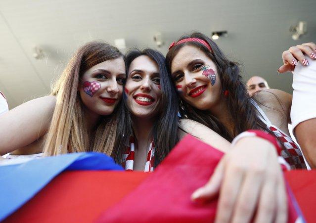 Football Soccer, Croatia vs Spain, EURO 2016, Group D, Stade de Bordeaux, Bordeaux, France on June 21, 2016. Croatia fans before the match. (Photo by Michael Dalder/Reuters/Livepic)