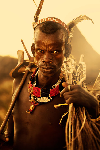 Cattle are at the center of Omo Valley tribal life. Men take care of the cattle and a tribesman's wealth is measured by the size of his herd. (Photo by Diego Arroyo)