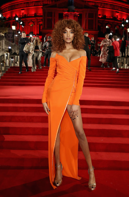English model Jourdan Dunn attends The Fashion Awards 2017 in partnership with Swarovski at Royal Albert Hall on December 4, 2017 in London, England. (Photo by Mike Marsland/Getty Images for BFC)