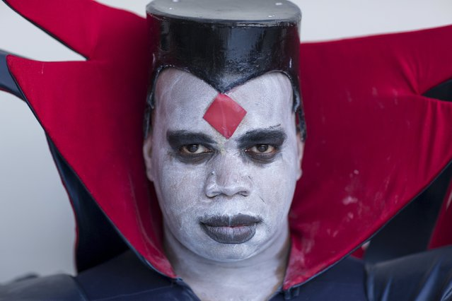 Vash Trent attends New York Comic Con dressed as Mr. Sinister from Marvel's X-Men in Manhattan, New York, October 8, 2015. (Photo by Andrew Kelly/Reuters)