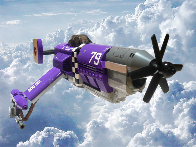 """""""Steel Wind. The mysterious mercenary known only as Lady Katana pilots a heavily customised P-79 Stratofighter, the """"Steel Wind"""". The cargo bay has been modified to fit two fragmentation rocket launchers and at the tip of each wing is mounted a 20mm machine gun"""". (Jon Hall)"""