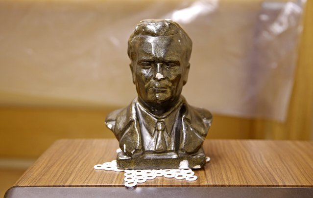 A bust of Josip Broz Tito is seen in his underground secret bunker (ARK) in Konjic, October 16, 2014. (Photo by Dado Ruvic/Reuters)