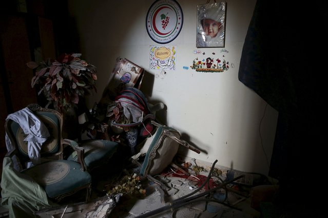 A view shows the damage inside a nursery for newborn babies after what activists said were air and missile strikes in the Douma neighborhood of Damascus, Syria December 13, 2015. (Photo by Bassam Khabieh/Reuters)