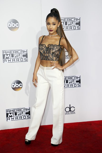 Singer Ariana Grande arrives at the 2016 American Music Awards in Los Angeles, California, U.S., November 20, 2016. (Photo by Danny Moloshok/Reuters)