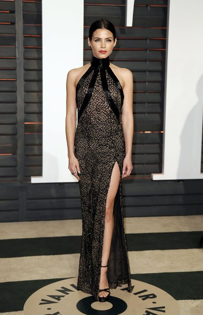 Actress Jenna Dewan arrives at the 2015 Vanity Fair Oscar Party in Beverly Hills, California February 22, 2015. (Photo by Danny Moloshok/Reuters)