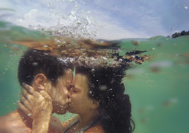 """Happiness apnea"". (David Olkarny)"