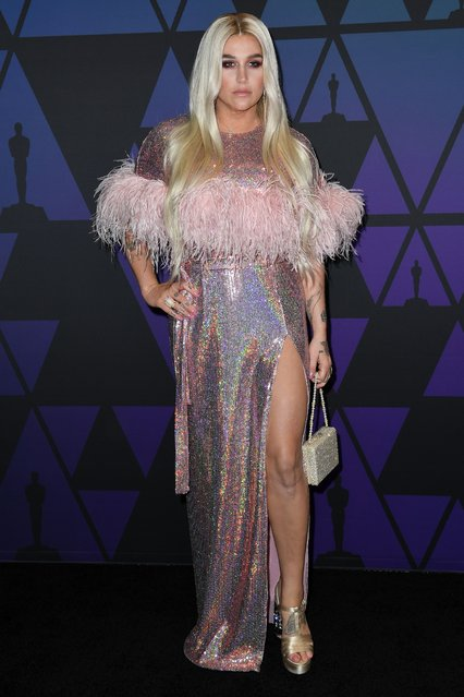 US singer Kesha attends the 10th Annual Governors Awards gala hosted by the Academy of Motion Picture Arts and Sciences at the the Dolby Theater at Hollywood & Highland Center in Hollywood, California on November 18, 2018. (Photo by Valerie Macon/AFP Photo)