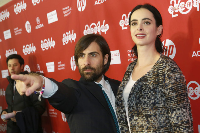 "Jason Schwartzman (L) and Krysten Ritter attend the ""Listen Up Philip"" Premiere during the 2014 Sundance Film Festival at Library Center Theater on January 20, 2014 in Park City, Utah. (Photo by Kristin Murphy/Getty Images for Sundance)"