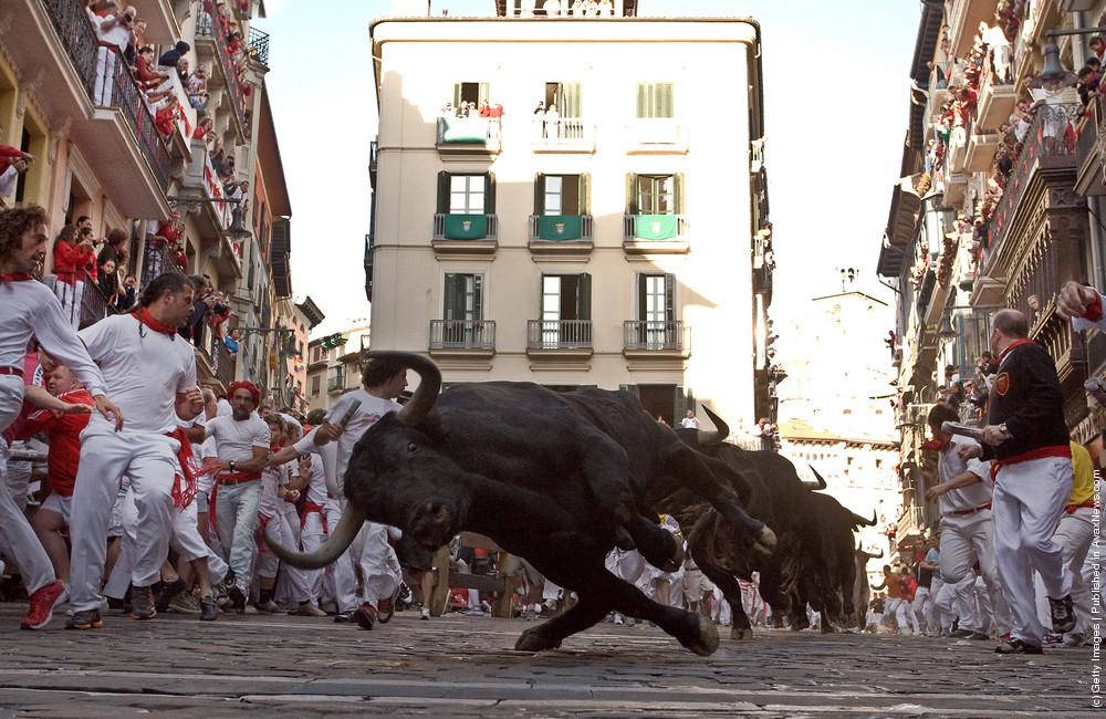 Fiesta De San Fermin Running Of The Bulls: Day 2