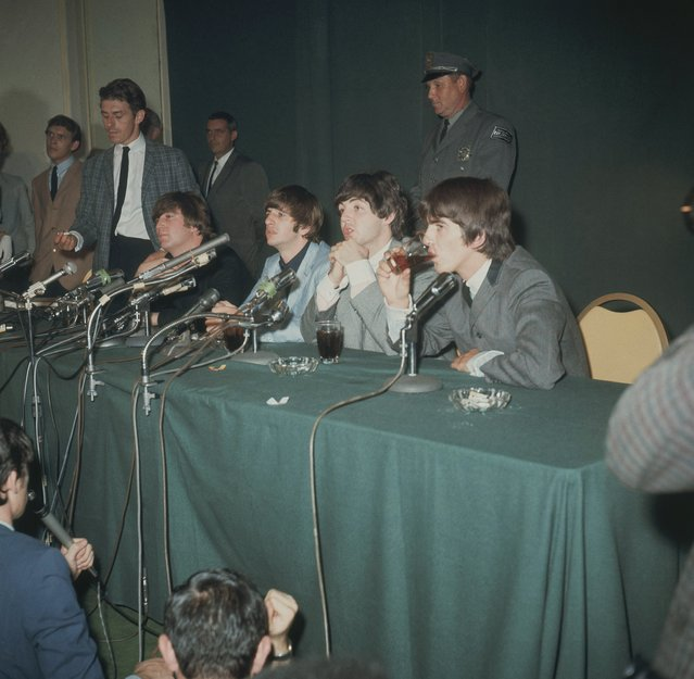 The Beatles are shown during a news conference in Forest Hills, N.Y., September 1964. (Photo by AP Photo)