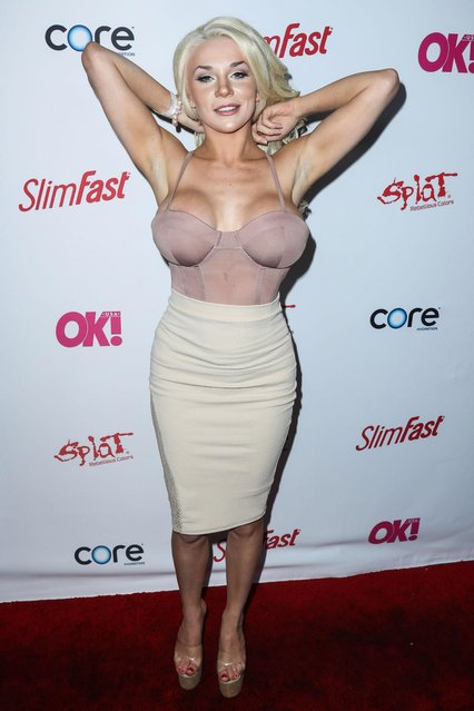 TV Personality Courtney Stodden attends OK! Magazine's pre-GRAMMY event at Avalon Hollywood on February 9, 2017 in Los Angeles, California. (Photo by Splash News and Pictures)