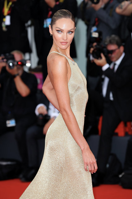 "Candice Swanepoel walks the red carpet ahead of the Opening Ceremony and the ""La Vérité"" (The Truth) screening during the 76th Venice Film Festival at Sala Grande on August 28, 2019 in Venice, Italy. (Photo by Ernesto Ruscio/Getty Images)"