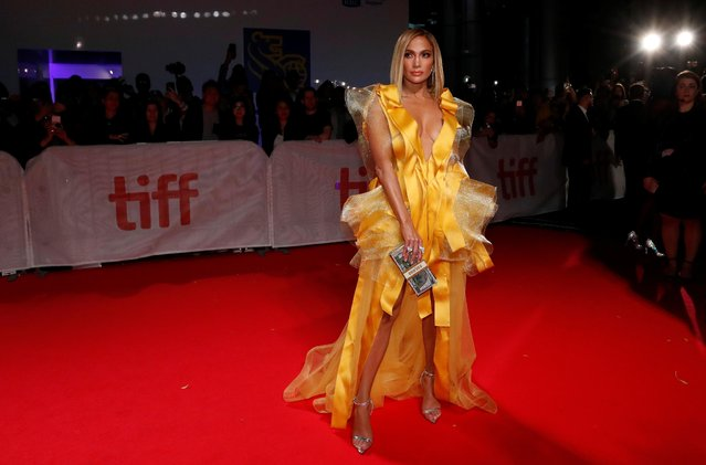 """Jennifer Lopez attends the """"Hustlers"""" premiere during the 2019 Toronto International Film Festival at Roy Thomson Hall on September 07, 2019 in Toronto, Canada. (Photo by Mario Anzuoni/Reuters)"""