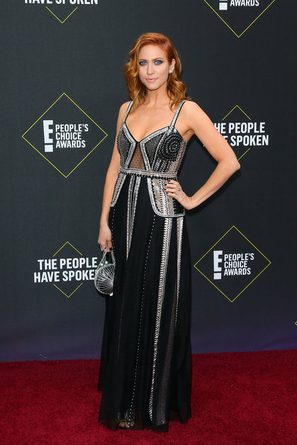US actress Brittany Snow arrives for the 45th annual E! People's Choice Awards at Barker Hangar in Santa Monica, California, on November 10, 2019. (Photo by Jean-Baptiste Lacroix/AFP Photo)